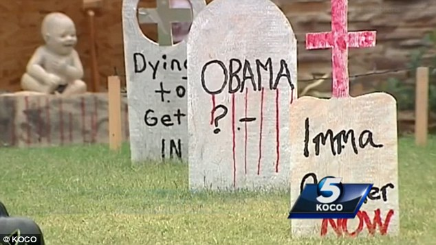 RACIST UNDER INVESTIGATION FOR HALLOWEEN DECORATION THAT FEATURES OBAMA TOMBSTONE