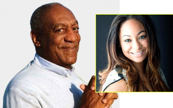 Raven Symone and Bill Cosby