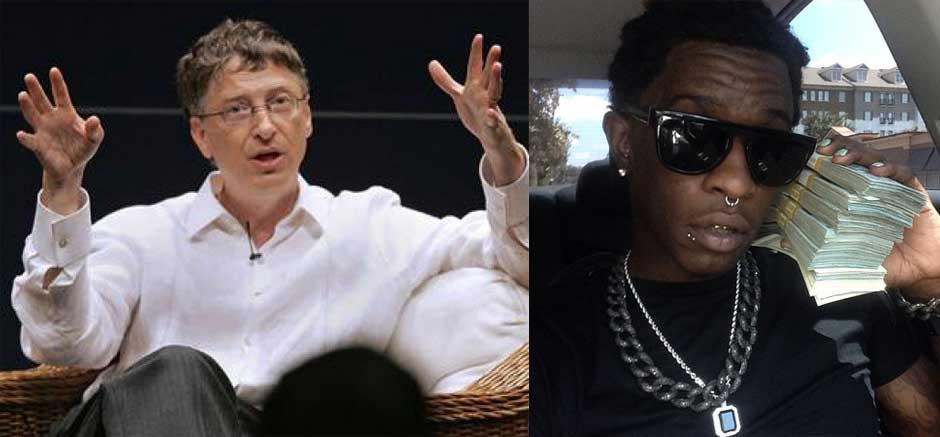 Young thug and bill gates