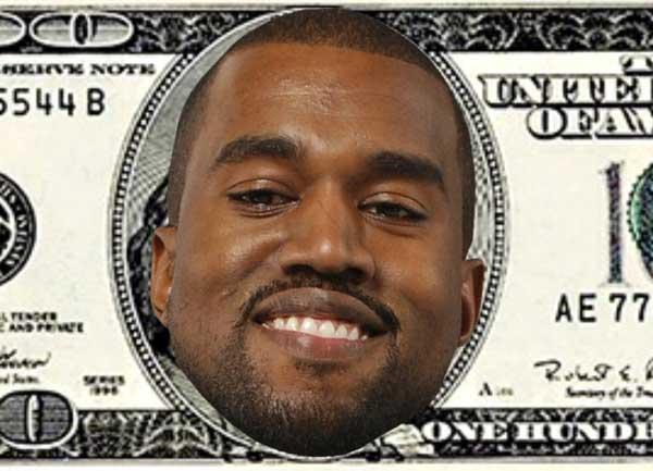 100 Dollar Bill Featuring Kanye