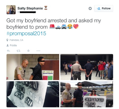 White Girl Has Black Boyfriend Arrested To Ask Him To Prom
