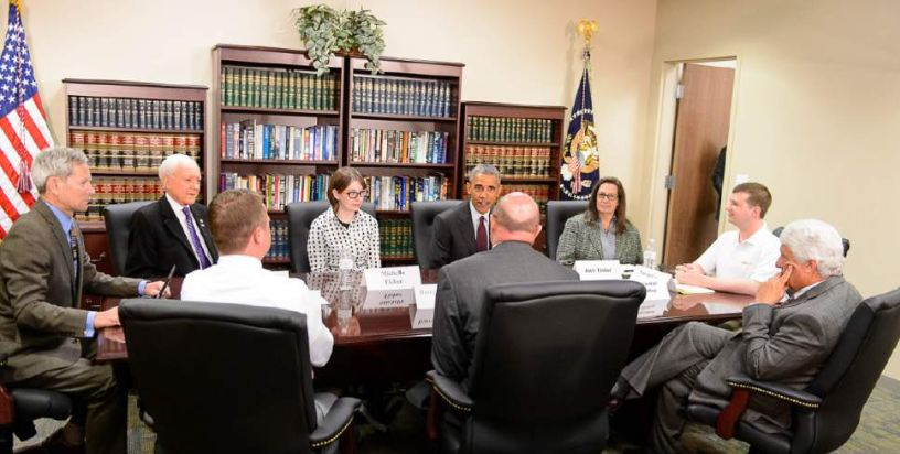 Obama Round Table Meeting