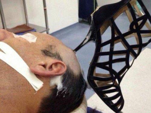 heels in head