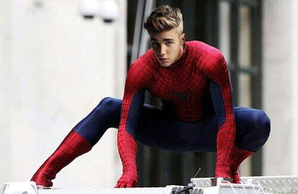 justin as peter parker