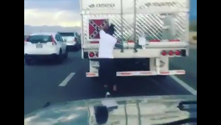 Confederate Flag on a truck