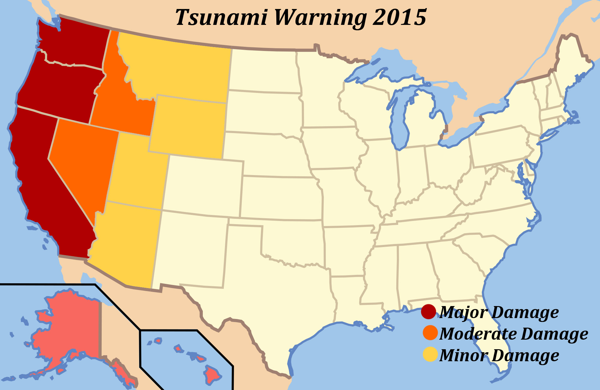 West Coast 2015 Tsunami