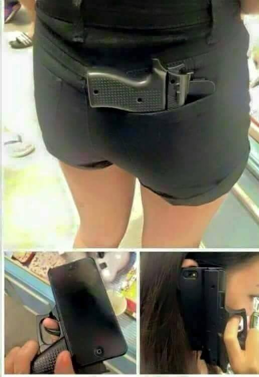 Gun shape iphone