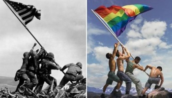 gay marriage victory to Iwo Jima