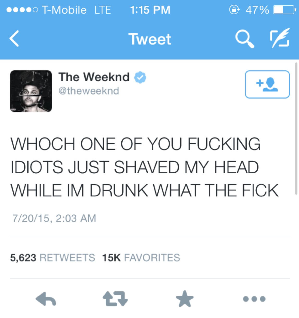 weeknd teet