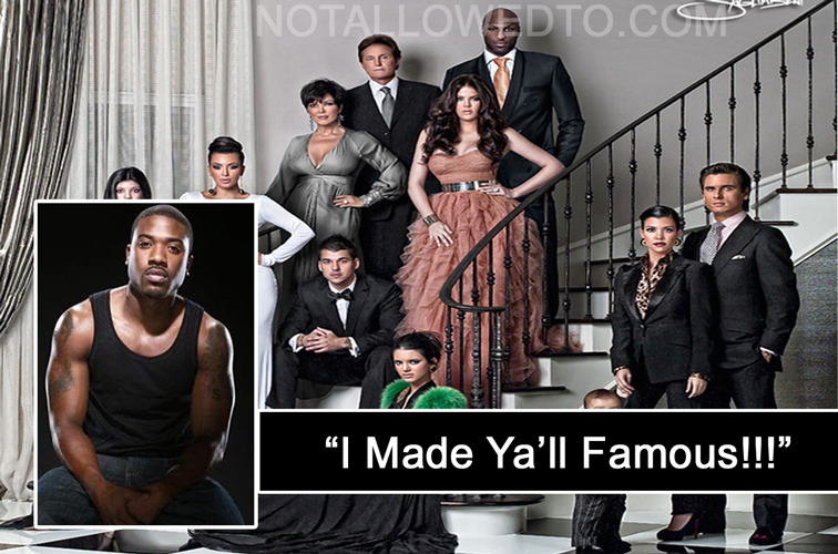 ray j with kardashians