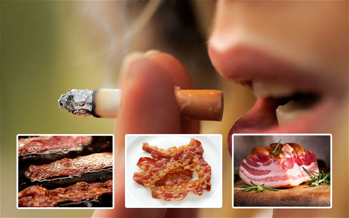 bacon as likely to give you cancer as smoking