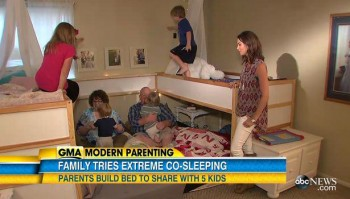 parents sharing bed