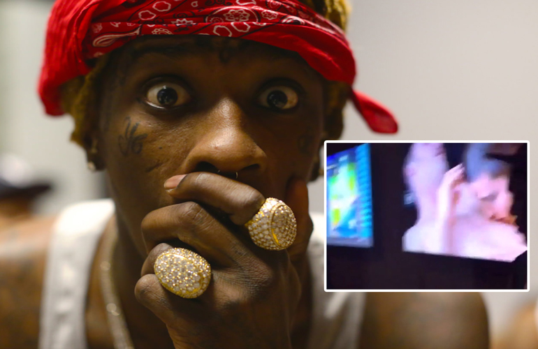Young Thug Caught Watching Gay Pn In Studio-4758
