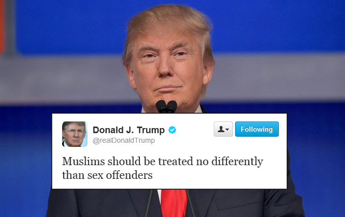 Donald Trump Wants To Quot Treat And Track All Muslims