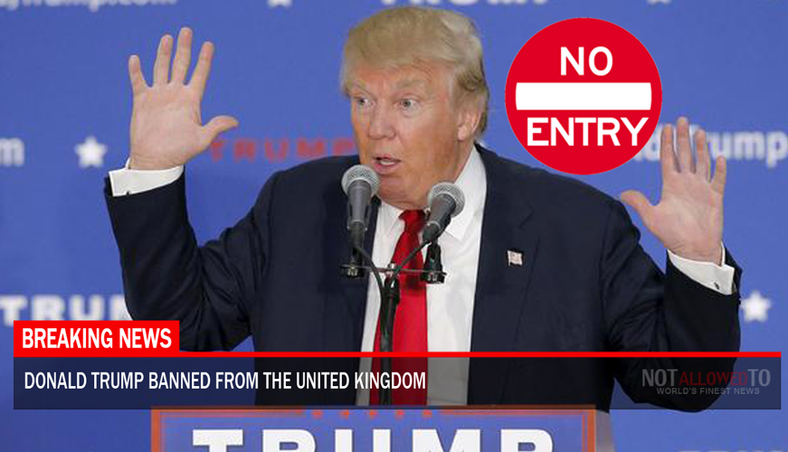 donald trump banned from united kingdom after 1 million people sign petition. Black Bedroom Furniture Sets. Home Design Ideas