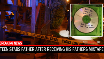 Teen stabs father