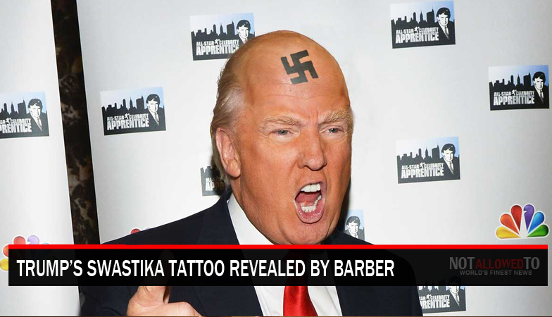 Donald Trump S Barber Reveals Quot Hair Piece Is Used To Cover Swastika Tattoo Quot