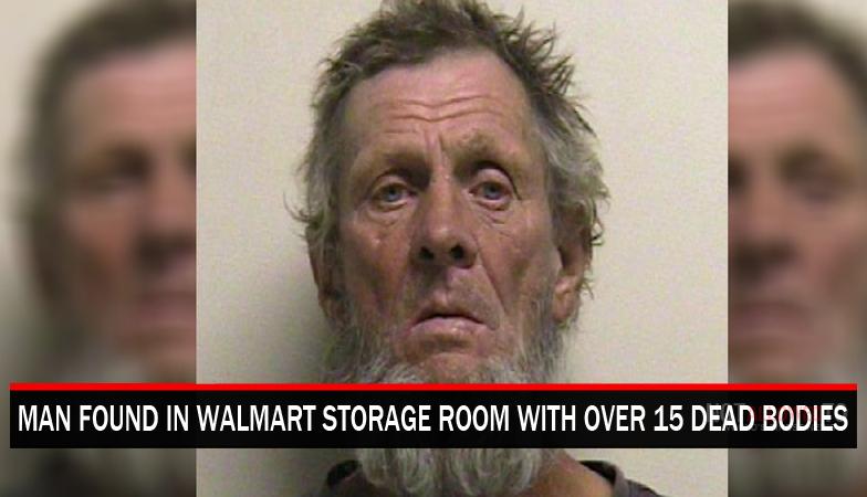 man caught in walmart