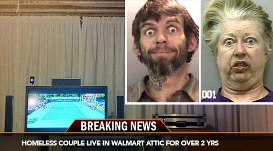 couple living in walmart