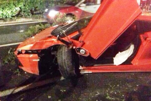 crash of lambo