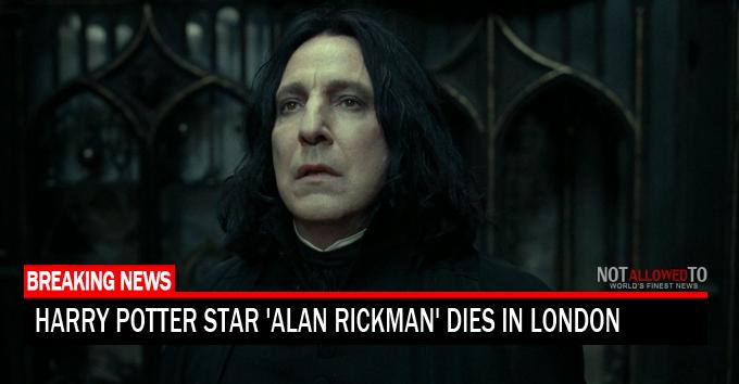 Harry Potter Star Alan Rickman