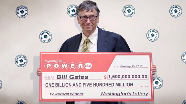 bill gates power ball winner