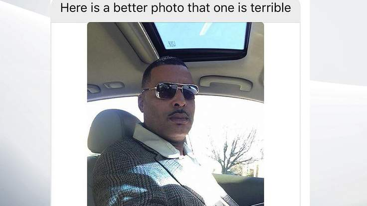 man sends selfie to cops