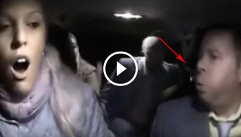 man spits on driver
