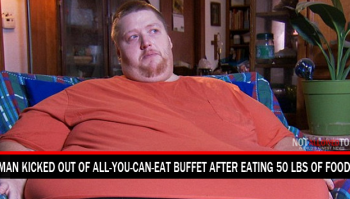 man kicked out for eating too much