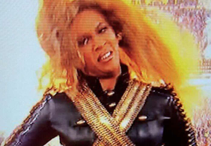 Beyonce face super bowl