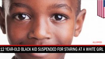 black kis suspended for staring
