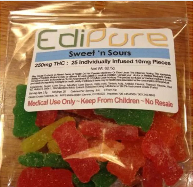 marijuana laced gummy bear