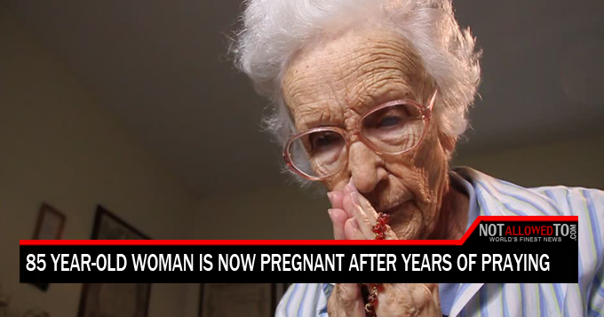 old woman pregnant