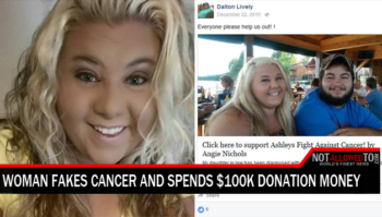 faking cancer to collect money