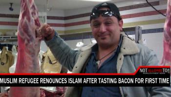 mulim eats haram meat
