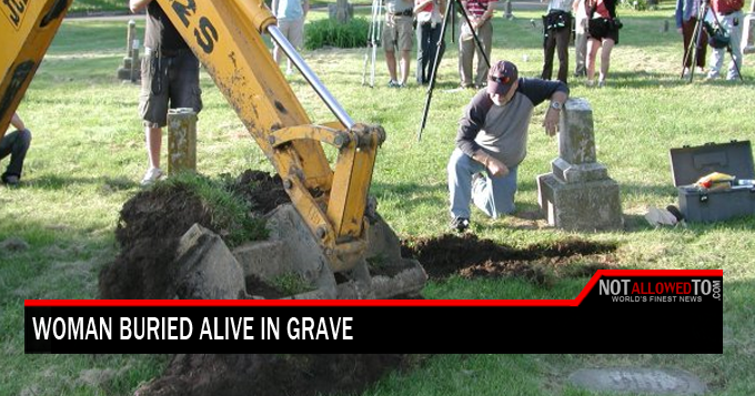 buried alive in grave