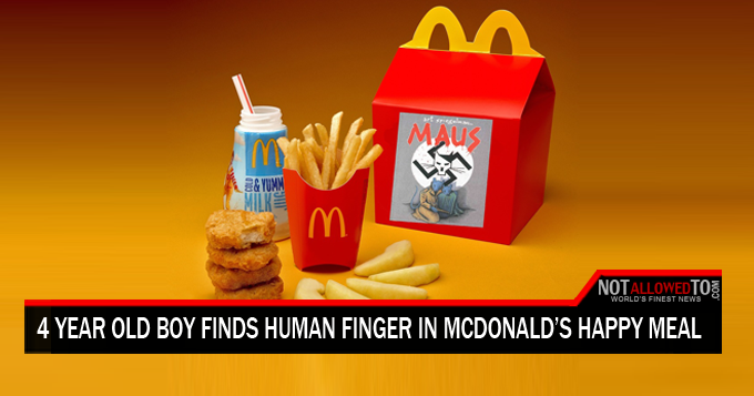 finger in happy meal