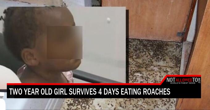 girl eats roaches