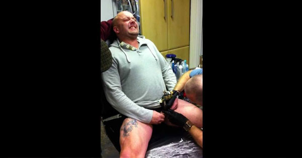 Hillary clinton 39 s fan tattooes her face on his balls for Testicle tattoo pictures